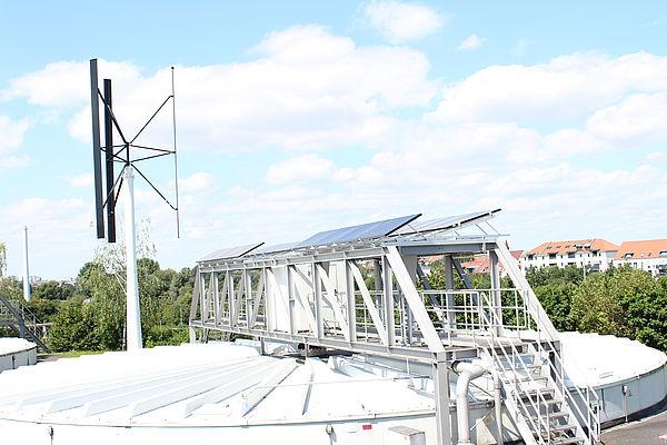 Kleinwindanlage im Klärwerk Nürnberg